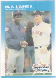 1987 Fleer Glossy #634 R.Clemens/G.Carter