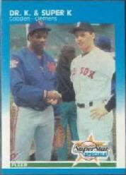 1987 Fleer Glossy #640 R.Clemens/D.Gooden