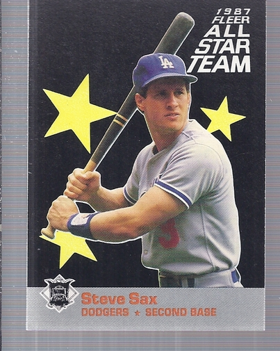 1987 Fleer All-Stars #4 Steve Sax