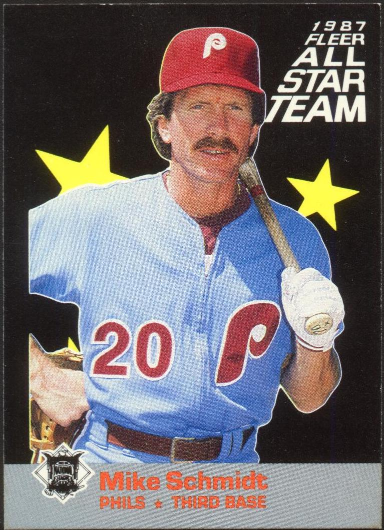 1987 Fleer All-Stars #6 Mike Schmidt front image