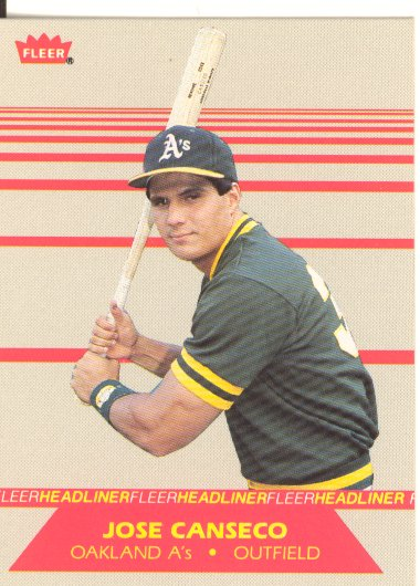 1987 Fleer Headliners #2 Jose Canseco