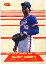 1987 Fleer Headliners #3 Dwight Gooden
