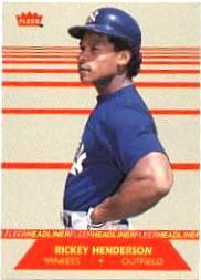 1987 Fleer Headliners #4 Rickey Henderson