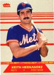 1987 Fleer Headliners #5 Keith Hernandez