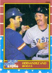 1987 Fleer World Series #2 Keith Hernandez and/Wade Boggs