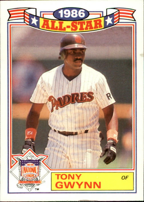 1987 Topps Glossy All-Stars #6 Tony Gwynn