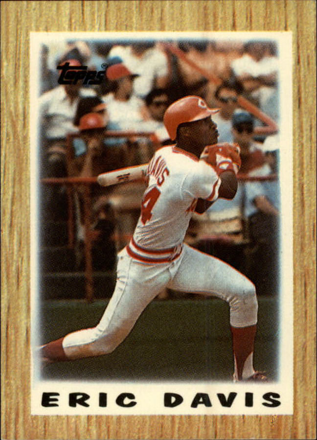 1987 Topps Mini Leaders #4 Eric Davis