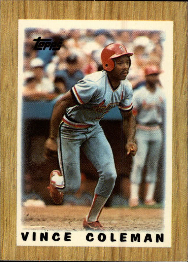 1987 Topps Mini Leaders #32 Vince Coleman
