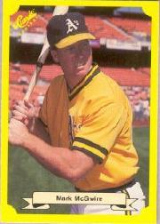 1987 Classic Update Yellow/Green Backs #121 Mark McGwire
