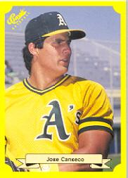 1987 Classic Update Yellow/Green Backs #125 Jose Canseco