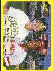 1987 Classic Update Yellow/Green Backs #150 M.McGwire/E.Davis front image
