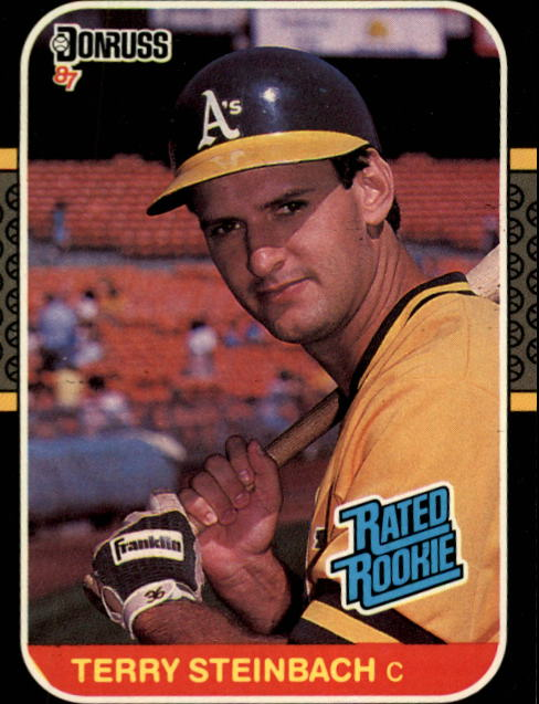 1987 Donruss #34 Terry Steinbach RC