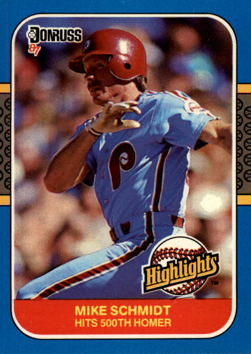 1987 Donruss Highlights #2 Mike Schmidt