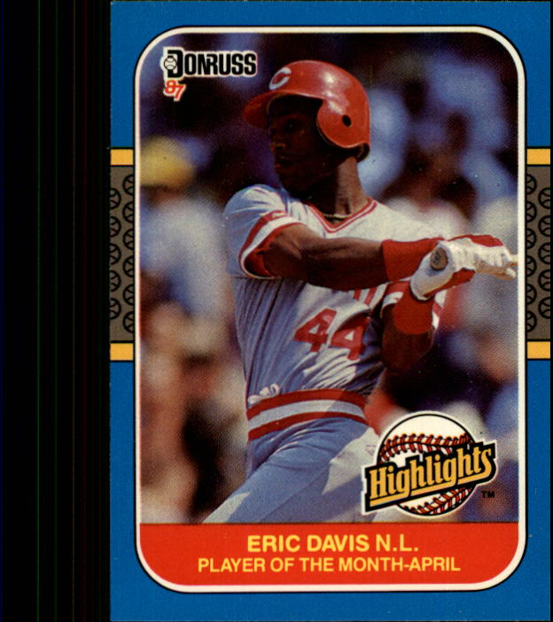 1987 Donruss Highlights #3 Eric Davis