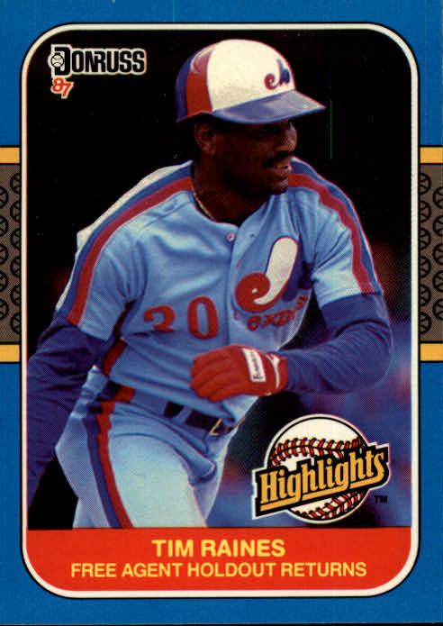 1987 Donruss Highlights #7 Tim Raines