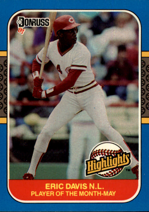 1987 Donruss Highlights #8 Eric Davis