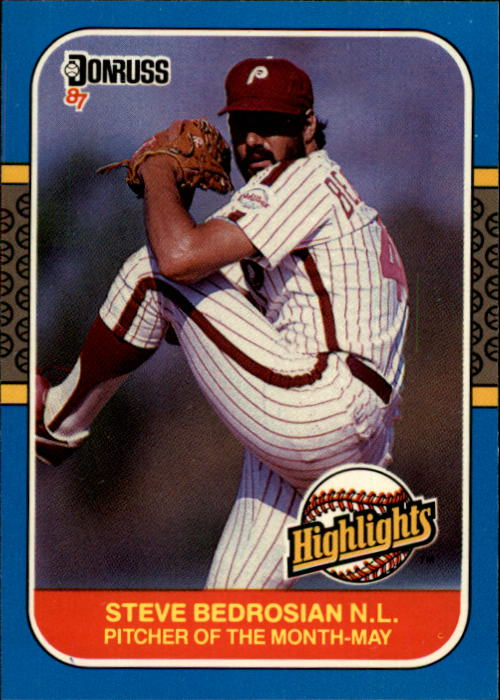 1987 Donruss Highlights #9 Steve Bedrosian