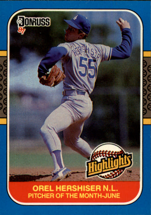 1987 Donruss Highlights #13 Orel Hershiser