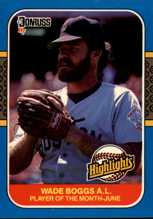 1987 Donruss Highlights #14 Wade Boggs