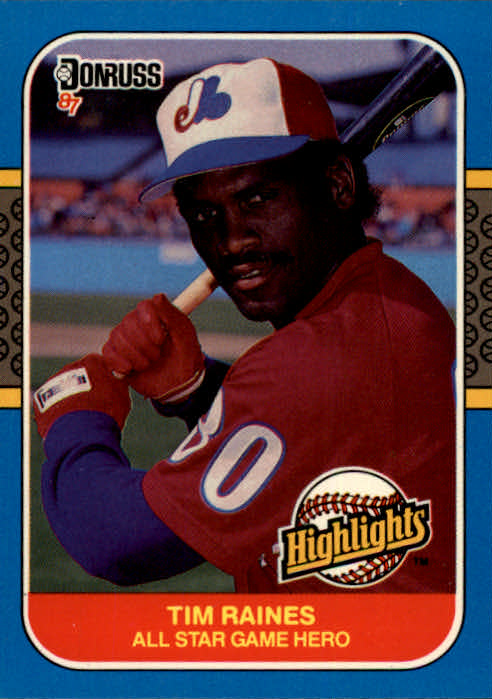 1987 Donruss Highlights #16 Tim Raines
