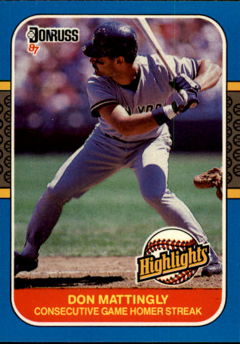 1987 Donruss Highlights #17 Don Mattingly front image