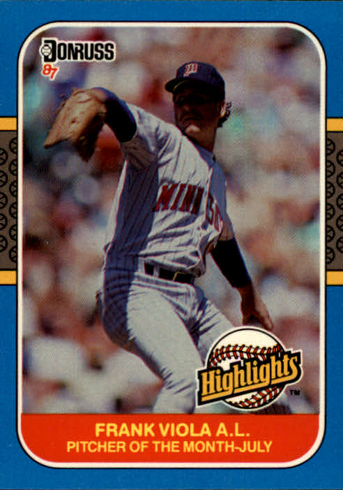 1987 Donruss Highlights #24 Frank Viola