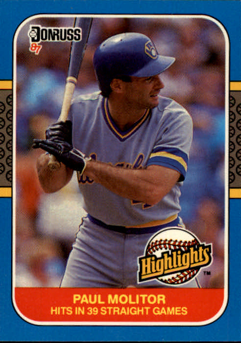 1987 Donruss Highlights #29 Paul Molitor