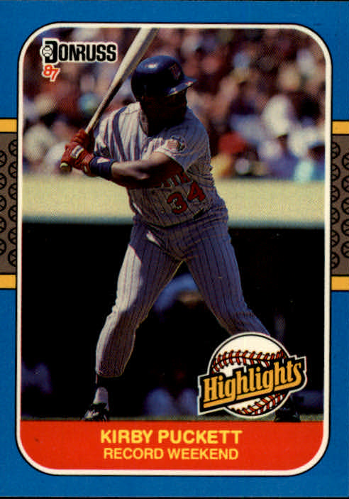 1987 Donruss Highlights #30 Kirby Puckett