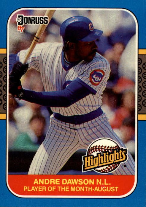 1987 Donruss Highlights #31 Andre Dawson