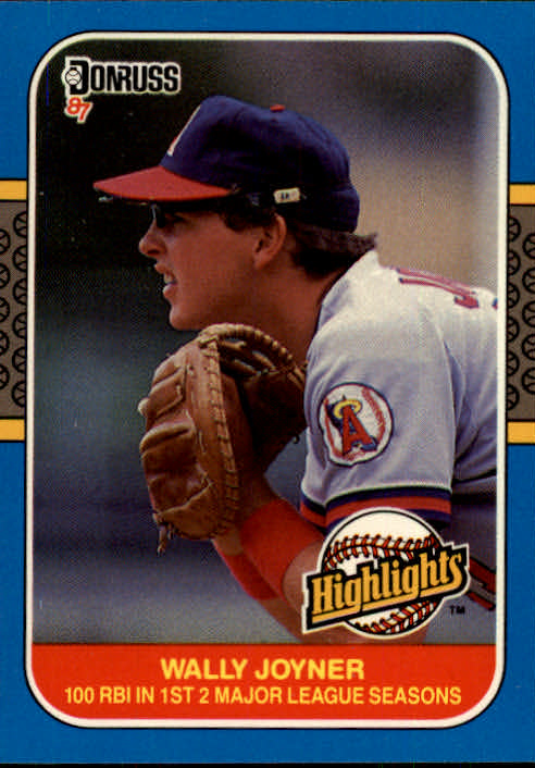 1987 Donruss Highlights #35 Wally Joyner