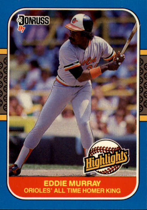 1987 Donruss Highlights #37 Eddie Murray front image