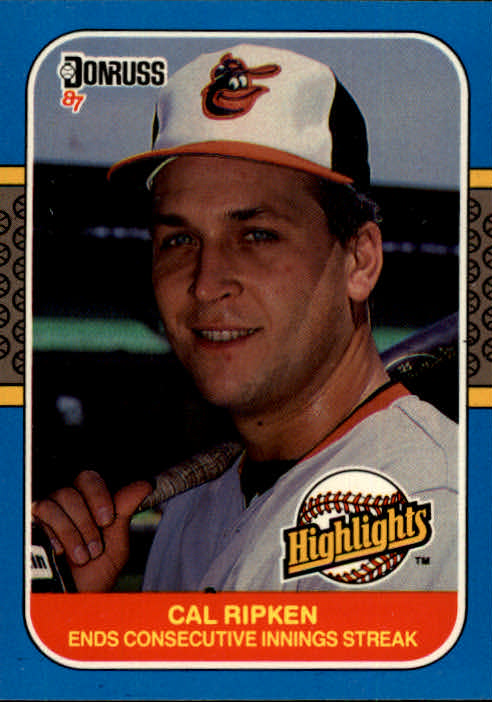 1987 Donruss Highlights #38 Cal Ripken