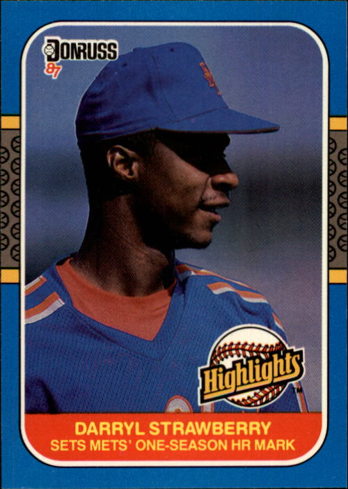 1987 Donruss Highlights #42 Darryl Strawberry