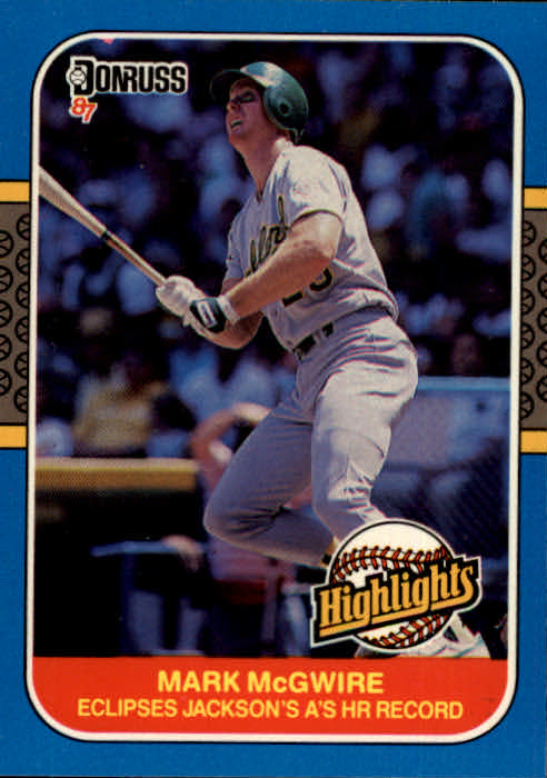 1987 Donruss Highlights #46 Mark McGwire