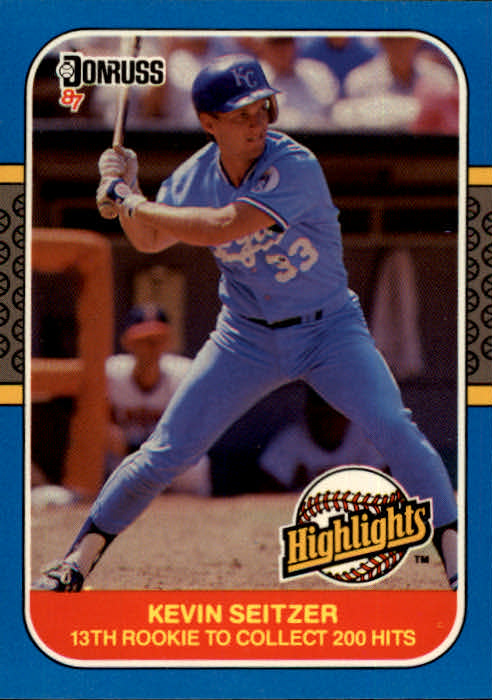 1987 Donruss Highlights #47 Kevin Seitzer