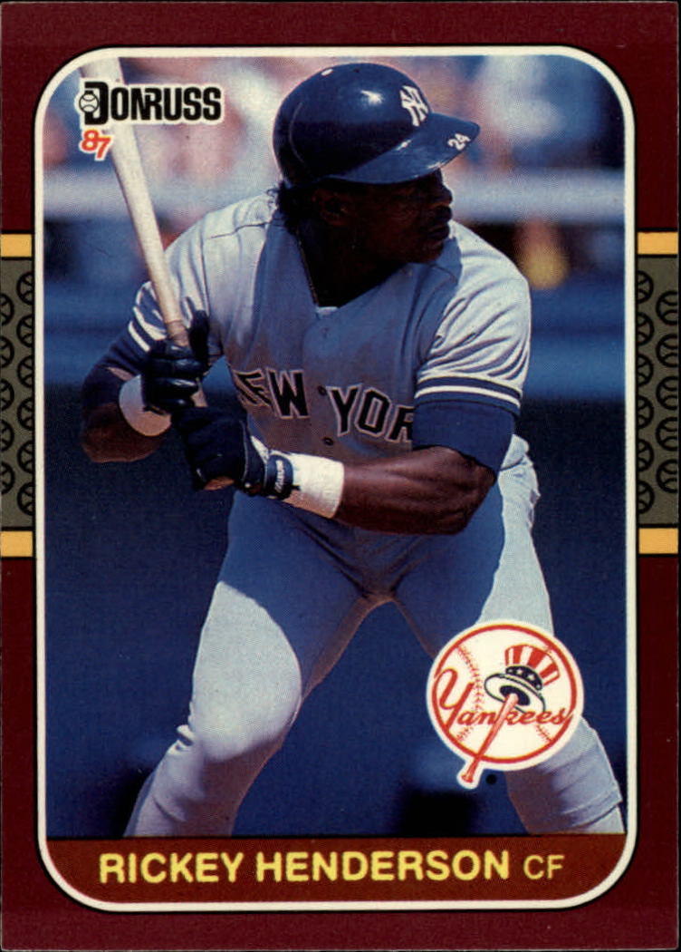 1987 Donruss Opening Day #248 Rickey Henderson