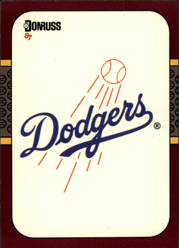1987 Donruss Opening Day #256 Dodgers Logo