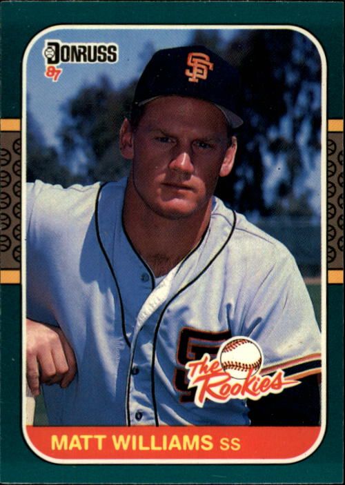 1987 Donruss Rookies #45 Matt Williams XRC