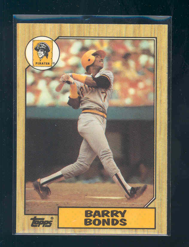 1987 Topps Tiffany #320 Barry Bonds