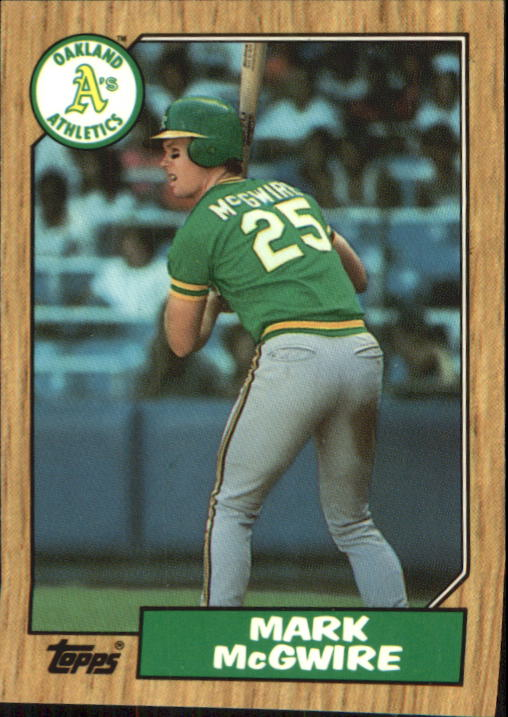 1987 Topps Tiffany #366 Mark McGwire
