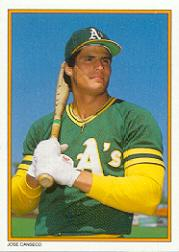 1987 Topps Glossy Send-Ins #59 Jose Canseco