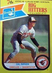 1987 Drake's #6 Cal Ripken