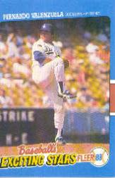 1988 Fleer Exciting Stars #43 Fernando Valenzuela