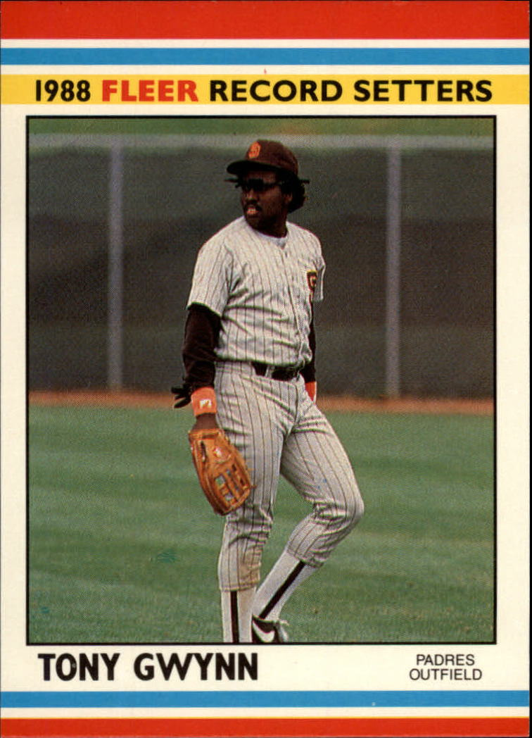 1988 Fleer Record Setters #17 Tony Gwynn