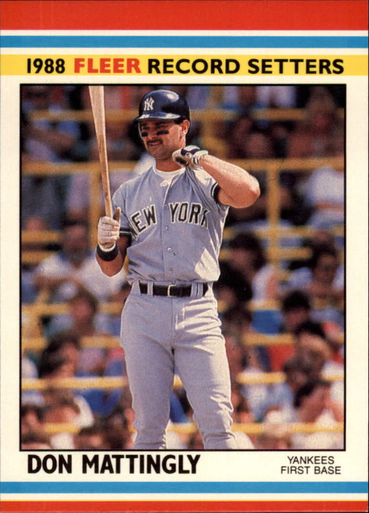 1988 Fleer Record Setters #24 Don Mattingly
