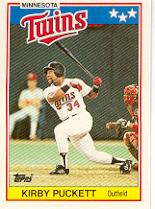 1988 Topps UK Minis #57 Kirby Puckett