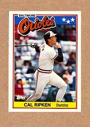 1988 Topps UK Minis #61 Cal Ripken