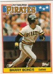 1988 Topps UK Minis Tiffany #5 Barry Bonds