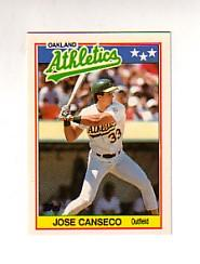 1988 Topps UK Minis Tiffany #10 Jose Canseco