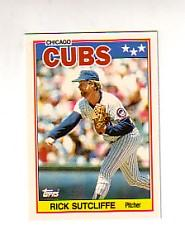 1988 Topps UK Minis Tiffany #77 Rick Sutcliffe